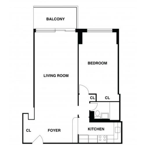 2D Floor Plan 30 | Somerset NJ Apartments | The Harrison