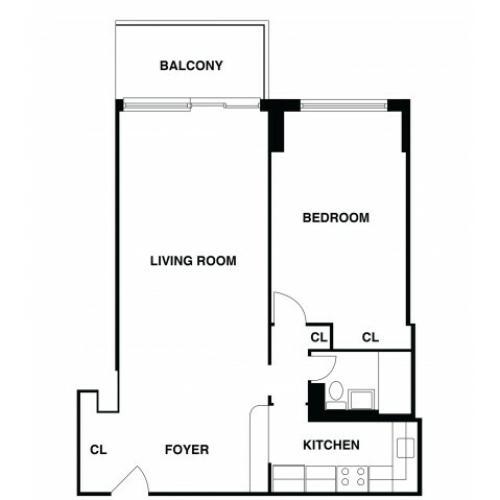 2D Floor Plan 30 | Somerset NJ Apartments | The Harrison