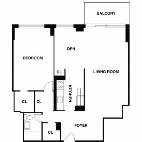 2D Floor Plan 33 | Luxury Apartments In Somerset NJ | The Harrison