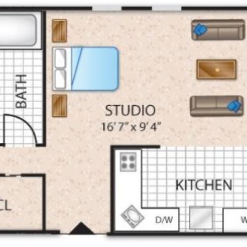 Floor Plan 12 | Apartments In Barrington NJ | Union Grove