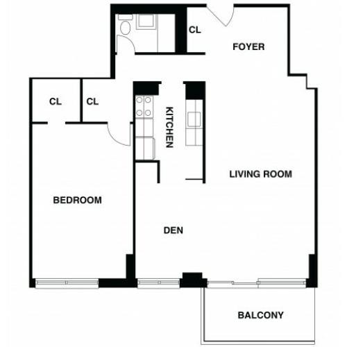 2D Floor Plan 49 | Luxury Apartments In Somerset NJ | The Harrison