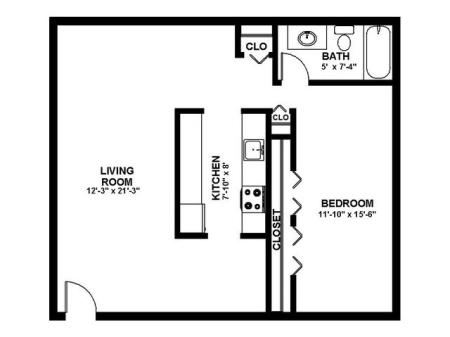 Floor Plan 8 | Apartments In Pitman New Jersey | Holly Court