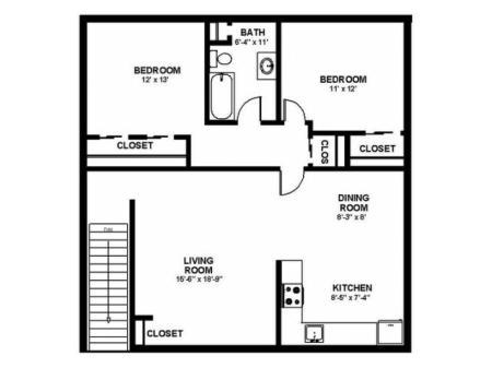 Floor Plan 36 | Pitman NJ Apartments | Holly Court