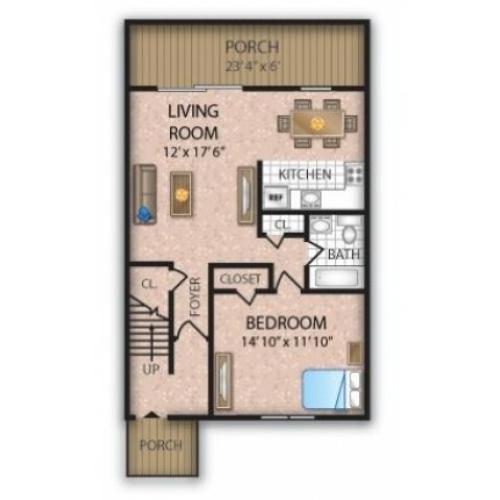 Floor Plan 5   Apartments Burlington NJ   Orchard Park