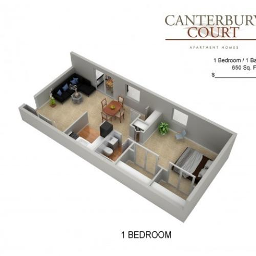 Floor Plan 2 | Northeast Philadelphia Apartments | Canterbury Court