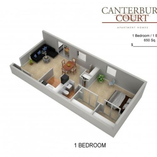 Floor Plan 8 | Philadelphia Apartments | Canterbury Court