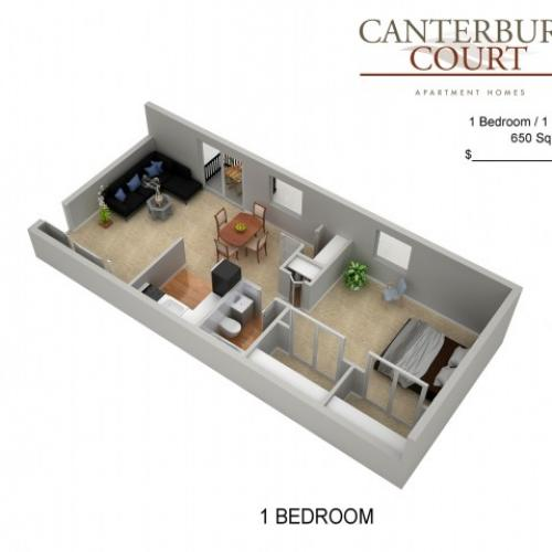 Floor Plan 10 | Philadelphia Apartments For Rent | Canterbury Court