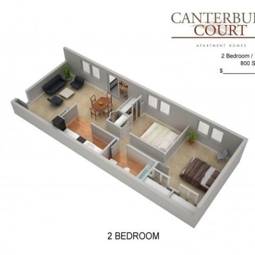 Floor Plan 27 | Northeast Philadelphia Apartments | Canterbury Court