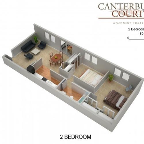 Floor Plan 29 | Apartments In Philadelphia | Canterbury Court