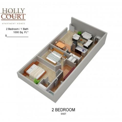 Floor Plan 31 | Pitman NJ Apartments | Holly Court