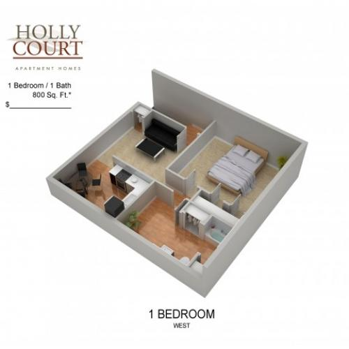 Floor Plan 15 | Apartments Pitman NJ | Holly Court