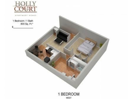 Floor Plan 5 | Apartments Pitman NJ | Holly Court