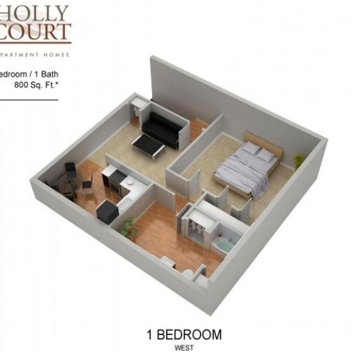 Floor Plan 5 | Apartments Pitman NJ | Holly Court