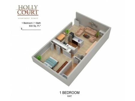 Floor Plan 7 | Apartments In Pitman NJ | Holly Court