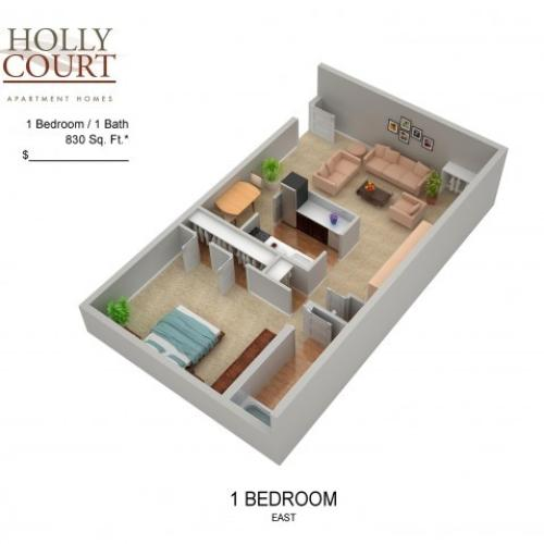 Floor Plan 7 | Apartments In Pitman NJ | Holly Court
