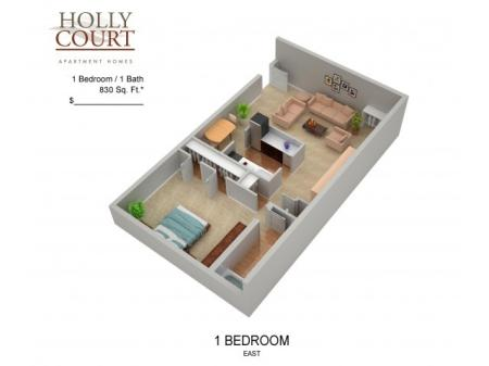 Floor Plan 13 | Apartments In Pitman New Jersey | Holly Court