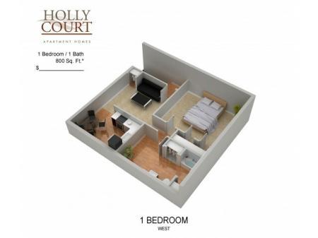 Floor Plan 17 | Apartments In Pitman NJ | Holly Court