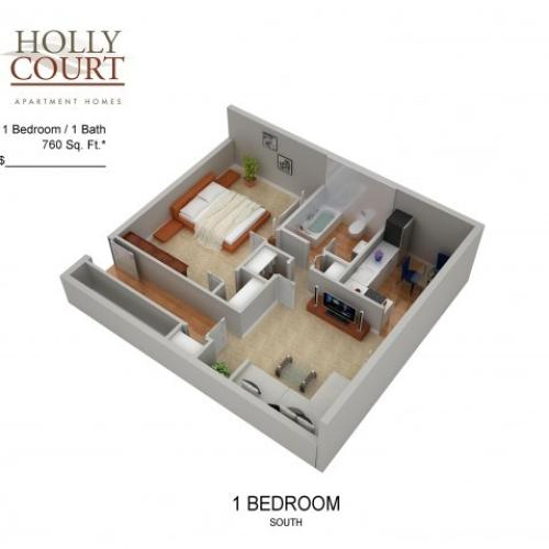Floor Plan 21 | Pitman NJ Apartments | Holly Court