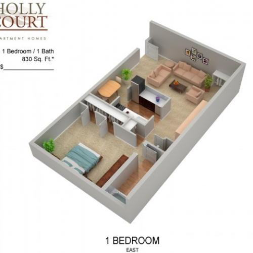 Floor Plan 27 | Apartments In Pitman NJ | Holly Court