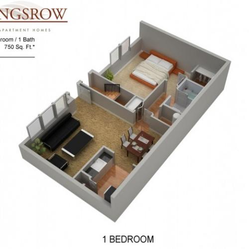 Floor Plan 1 | Lindenwold Apartments | Kingsrow