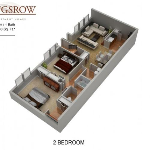 Floor Plan 10 | Lindenwold NJ Apartments | Kingsrow