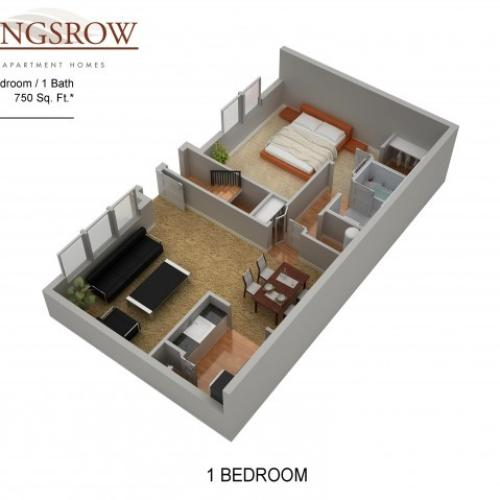 Floor Plan 2 | Apartments Lindenwold NJ | Kingsrow