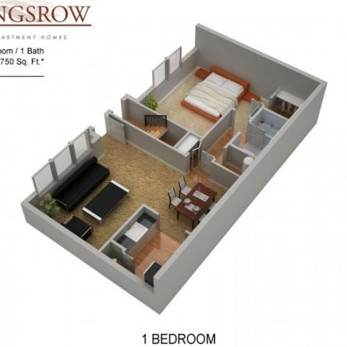 Floor Plan 3 | Apartments In Lindenwold NJ | Kingsrow
