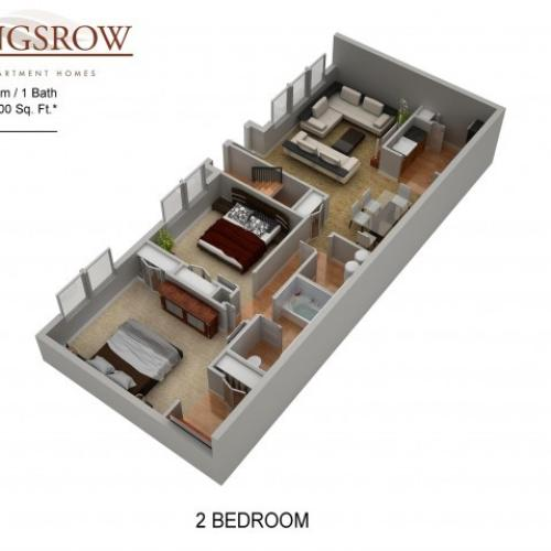 Floor Plan 12 | Apartments Lindenwold NJ | Kingsrow
