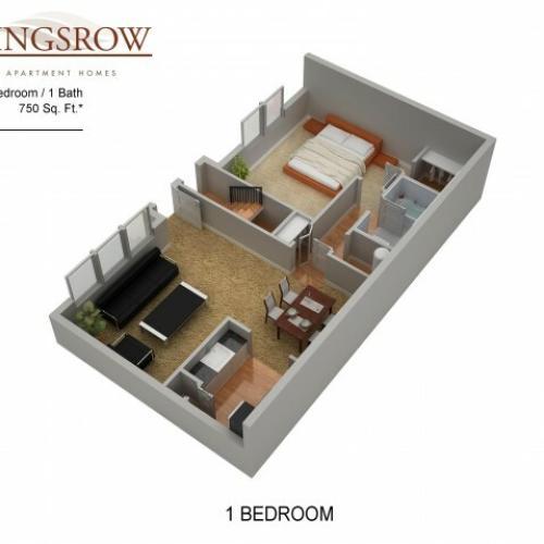 Floor Plan 4 | Kingsrow Apartments | Kingsrow