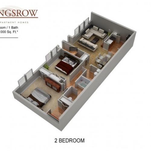 Floor Plan 13 | Apartments In Lindenwold NJ | Kingsrow