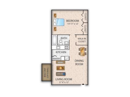 Floor Plan 1 | Allentown Apartments | Lehigh Square