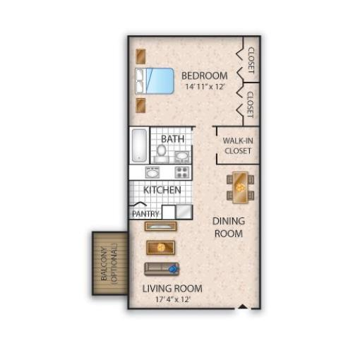 Floor Plan 4   Apartments For Rent In Allentown PA   Lehigh Square