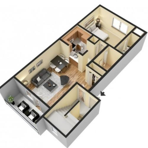 Floor Plan 1 | Harrisburg Apartments | Mulberry Station