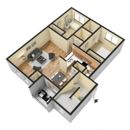 Floor Plan 2 | Luxury Apartments Harrisburg PA | Mulberry Station