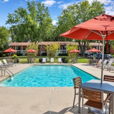 Lounging by the Pool | Pitman Apartments | Holly Court