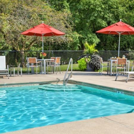 Playing in the Pool | Pitman New Jersey Apartments | Holly Court