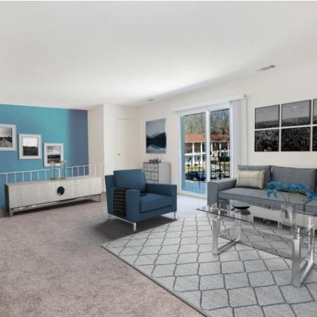 Spacious Living Room | Apartments in Pitman | Holly Court
