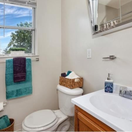 Ornate Bathroom | Apartments in Baltimore | Greens at Forest Park
