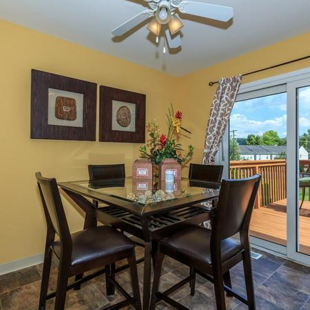 Spacious Dining Room | Townhomes For Rent In Bethlehem PA | River Pointe