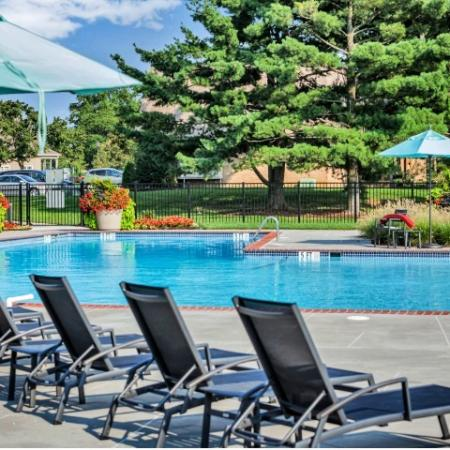 Apartments In Bensalem Pa | Lounging By The Pool | Franklin Commons
