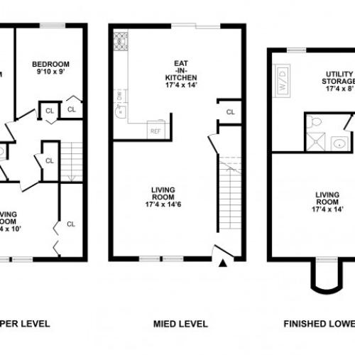 4 Bedroom Floor Plan | Luxury APArtments In Bethlehem PA | River Pointe