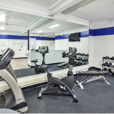 Residents Working Out at Fitness Center | Belleville New Jersey Apartments | Joralemon Street