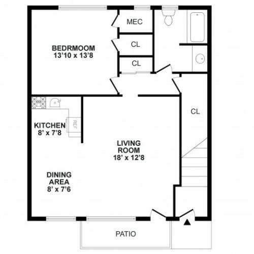 Floor Plan 2   Apartment In Burlington NJ   Burlington Pointe