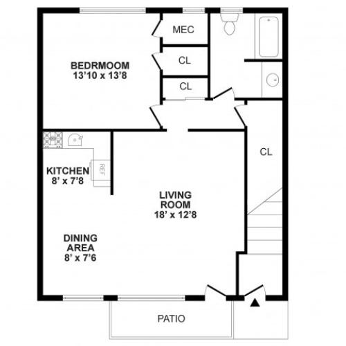 Floor Plan 2 | Apartment In Burlington NJ | Burlington Pointe