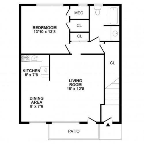 Floor Plan 3 | Burlington Apartments NJ | Burlington Pointe