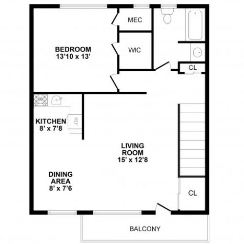 Floor Plan 4 | Apartments In Burlington | Burlington Pointe