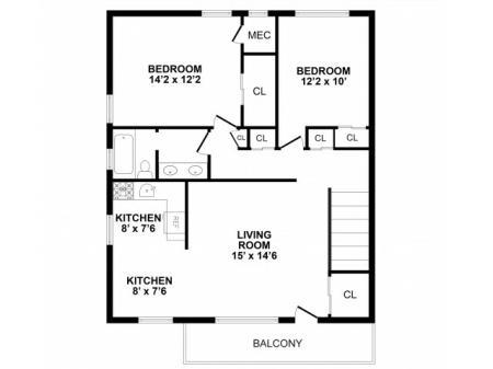 Floor Plan 6 | Burlington Apartments | Burlington Pointe