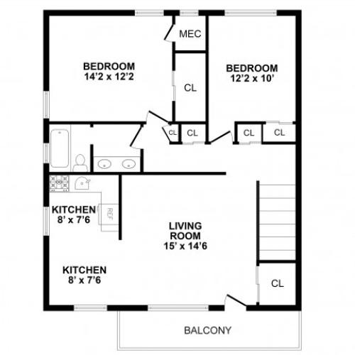 Floor Plan 6 | Burlington Apartments | Burlington Pointe