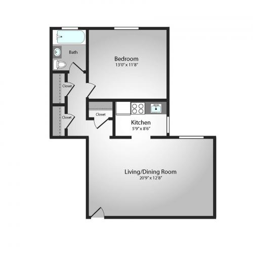 Floor Plan 7 | Apartments In Pittsburgh PA | The Alden