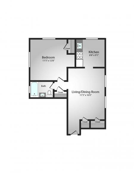 Floor Plan 2 | Apartments In Pittsburgh PA | The Alden
